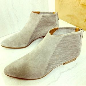 Aquatalia Gray suede perforated booties size 9